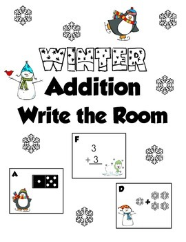 Winter Addition Write-the-Room