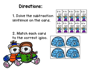 Winter Addition and Subtraction Activities