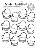 Winter Addition and Subtraction Basic Facts Practice Worksheets