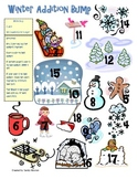Winter Addition and Subtraction Bump Math Station Games (1