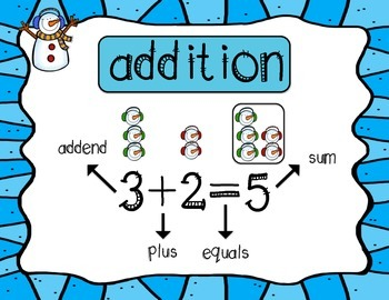 Addition and Subtraction Winter Fun-CCA