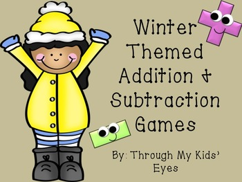 Winter Addition and Subtraction Games