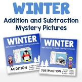 Addition And Subtraction Worksheets Color By Number Winter Math Sheets