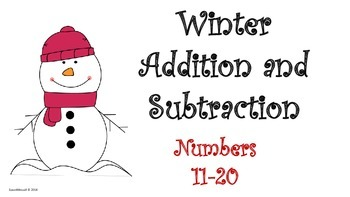 Winter Addition and Subtraction: Numbers 11-20
