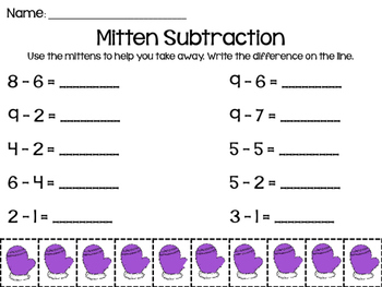 Winter Addition and Subtraction Pack
