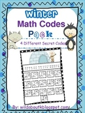Winter Addition and Subtraction Secret Math Codes