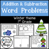 Winter Addition and Subtraction Word Problems First Grade