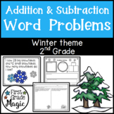 Winter Addition and Subtraction Word Problems Second Grade