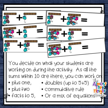 Winter Addition to 10 - beginning addition with pictures