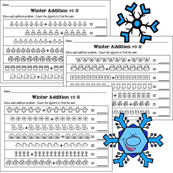 Winter Addition with Pictures
