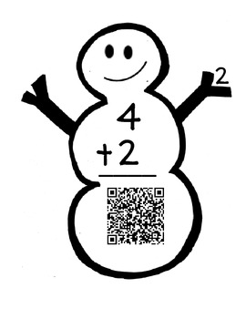 Winter Addition with QR Codes