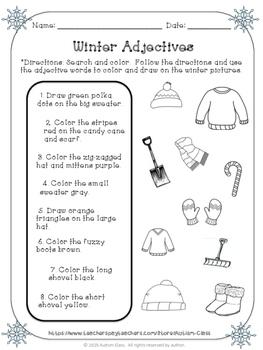 Winter Adjectives