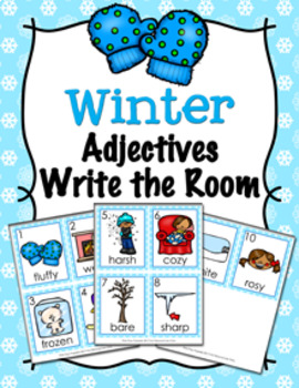 Winter Adjectives Write The Room Activity