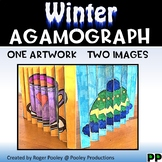 Winter Agamograph Art Activity