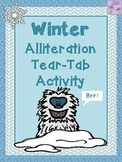 Winter Alliteration Tear-Tab Activity