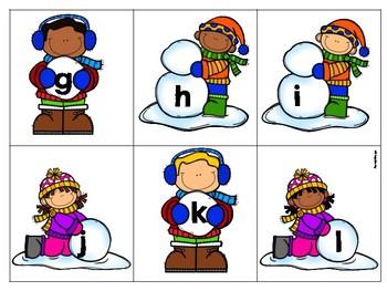 Winter Alphabet Activity Lowercase Letters