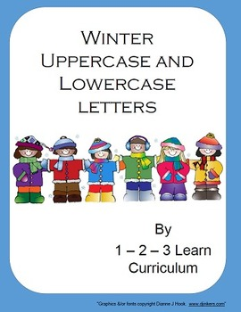 Winter Alphabet Cards and Writing Book