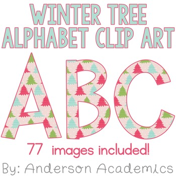 Winter Tree Alphabet Clip Art