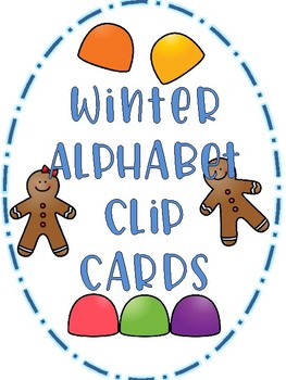 Winter Alphabet Clip Cards