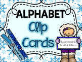 Winter Alphabet Clip Cards (Lowercase and Uppercase Letters)