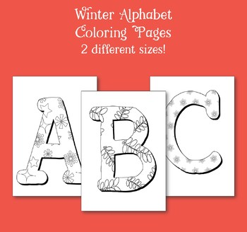 Winter Alphabet Coloring Pages