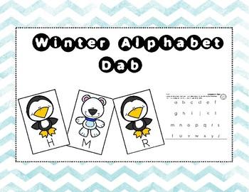 Winter Alphabet Dab