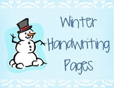 Winter Alphabet Handwriting