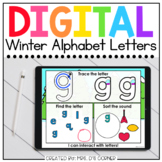 Winter Alphabet Letters Digital Activity   Distance Learning