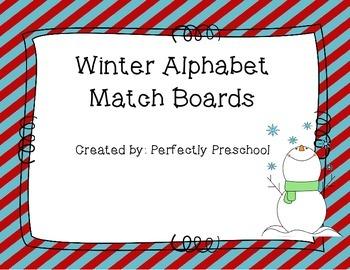 Winter Alphabet Match Boards