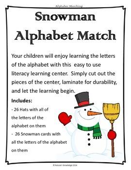 Winter Alphabet Matching