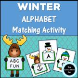 Winter Alphabet Matching Game: Alphabet Literacy Center Activity