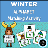 Winter Alphabet Matching Game: Alphabet Literacy Center Activity
