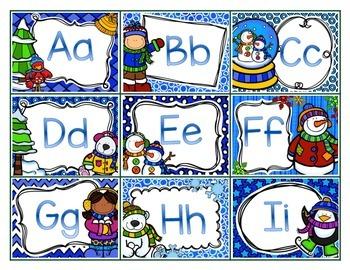 Winter Alphabet Matching Memory Game