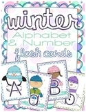 Winter Alphabet & Number Flash Cards