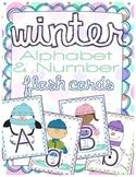 Winter Alphabet & Number Flash Cards