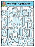 Winter Alphabet  (P4 Clips Trioriginals Digital Clip Art)