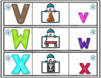 Winter Alphabet Puzzles