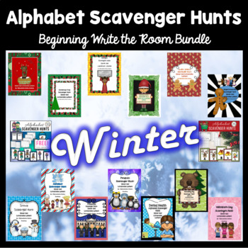 Winter Alphabet Scavenger Hunts BUNDLE