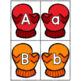 Winter Alphabet Sounds Center - Uppercase Lowercase Matching