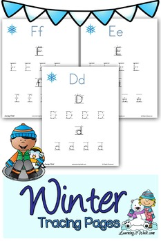 Winter Alphabet Tracing Pages