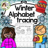 Winter Alphabet Tracing Practice (Print Handwriting Practice)