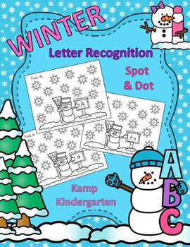 Winter Alphabet Upper Case and Lower Case Letter Recognition