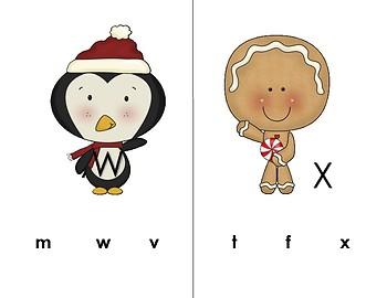 Winter Alphabet Uppercase Lowercase Clip Cards