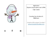 Winter Alphabet Uppercase Lowercase Clip Cards