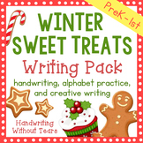 Winter Alphabet - Winter Writing Prompts - Winter Writing Paper - Christmas