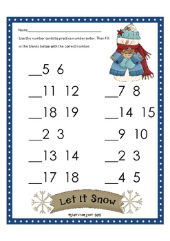 Winter Alphabet and Number Order