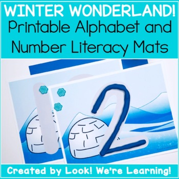 Winter Alphabet and Number Playdough Mats