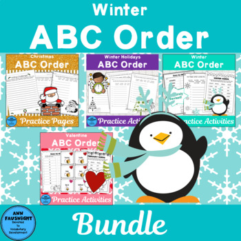 Winter Alphabetical Order Bundle