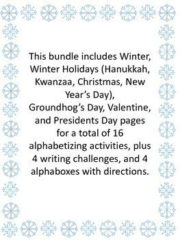 Winter ABC Order Bundle
