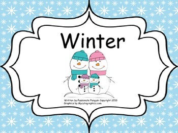 Winter - An Informative Book with Activities - Common Core